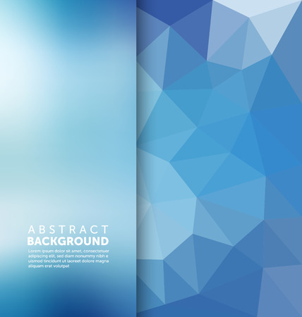 crystal background: Abstract Background - Triangle and blurred banner design Illustration
