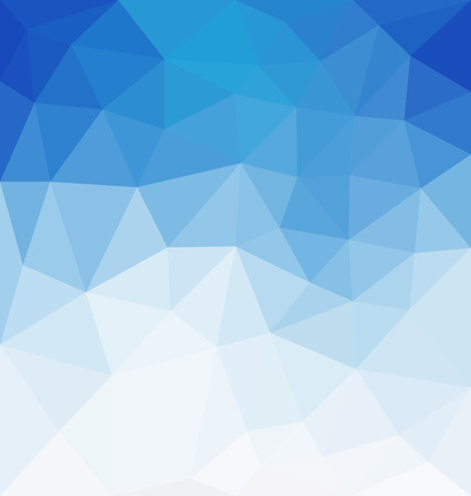 sky blue: Abstract Background - Triangle and blurred banner design Illustration