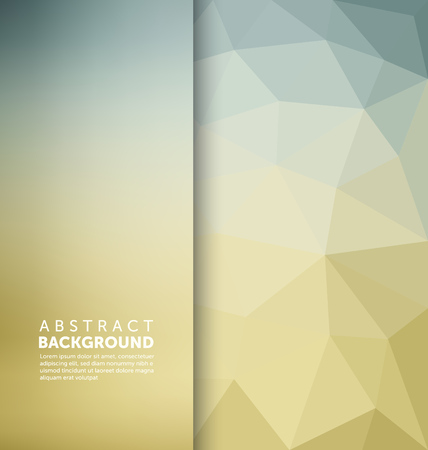 blur: Abstract Background - Triangle and blurred banner design Illustration