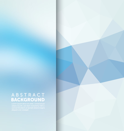 抽象的な背景 - 三角形とぼやけのバナー デザイン