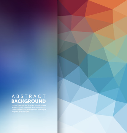 multicolour: Abstract Background - Triangle and blurred banner design Illustration