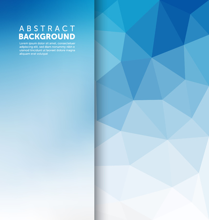 blue background abstract: Abstract Background - Triangle and blurred banner design Illustration
