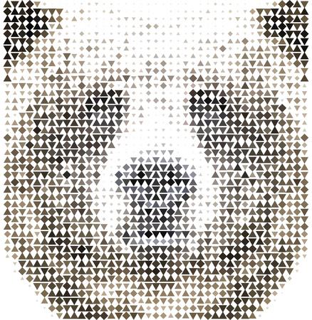 Vintage Geometric Bear Design