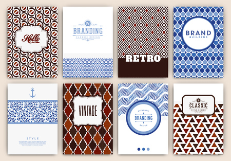 authentic: Flyer Design Template Set - Retro Ornamental Style - Ideal template design for restaurant, hotel, cafe or other businesses with classic or ethnic corporate identity