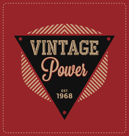vintage power: Vintage Power - Typographic Design - Classic look ideal for screen print shirt design