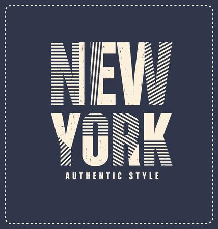screen print: New York City - Typographic Design - Classic look ideal for screen print shirt design