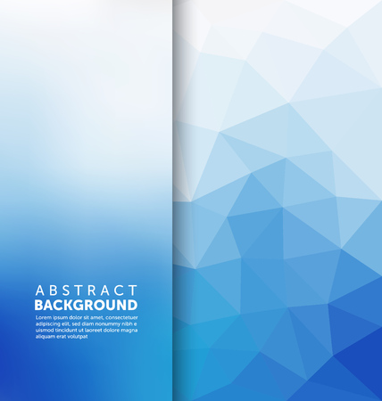 blue gradient: Abstract Background - Triangle and blurred banner design Illustration