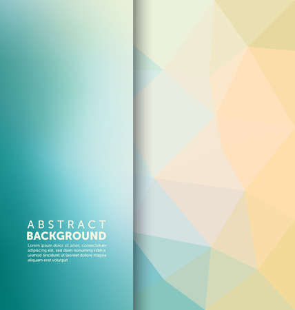 Abstract Background - Triangle and blurred banner design Çizim
