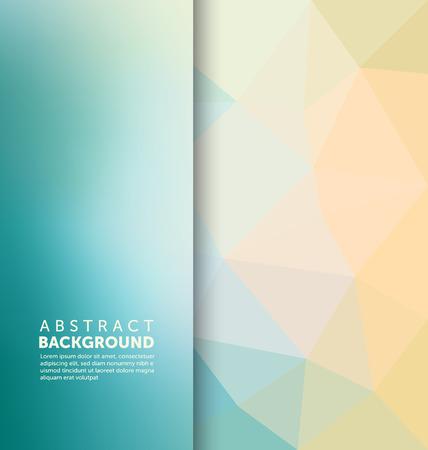 Abstracte achtergrond - driehoek en wazig bannerontwerp Stock Illustratie