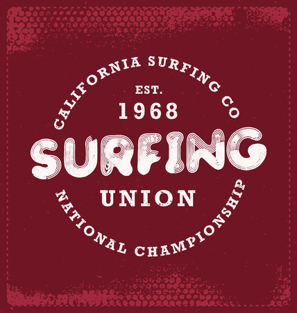 surf team: Surfing - Typographic Design - Classic look ideal for screen print shirt design
