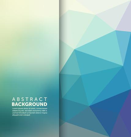 抽象的な: 抽象的な背景 - 三角形とぼやけのバナー デザイン