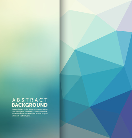 blue background: Abstract Background - Triangle and blurred banner design Illustration