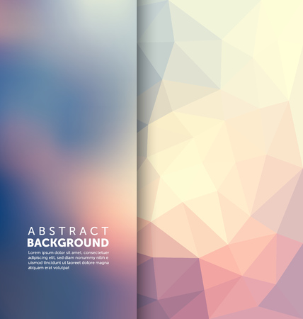 Abstract Background - Triangle and blurred banner design  イラスト・ベクター素材
