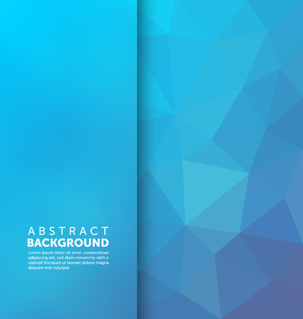 blue waves vector: Abstract Background - Triangle and blurred banner design Illustration