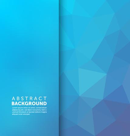 Samenvatting Achtergrond - Driehoek en wazig banner ontwerp