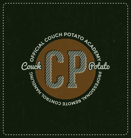 potatoes: Official Couch Potato Academy - Typographic Design - Classic look ideal for screen print shirt design Illustration