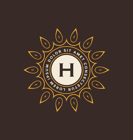 classic style: Calligraphic Monogram Design Template - Classic Ornamental Style - Elegant luxury frame logo type - Ideal for restaurant, hotel, cafe and other businesses with classic corporate identity visual