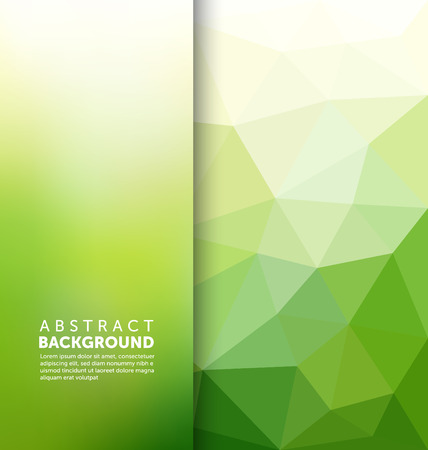 green background: Abstract Background - Triangle and blurred banner design Illustration
