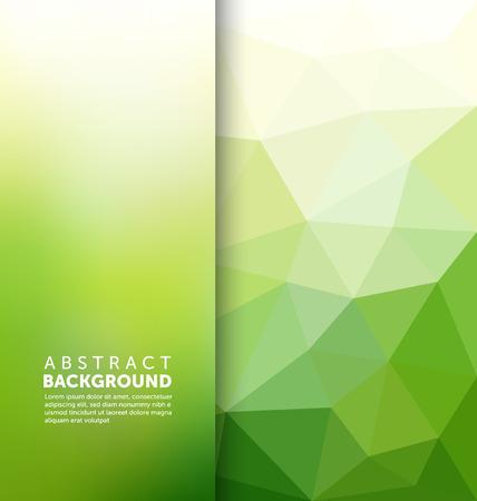 abstrakt gr�n: Abstract Background - Triangle und verschwommene Banner-Design