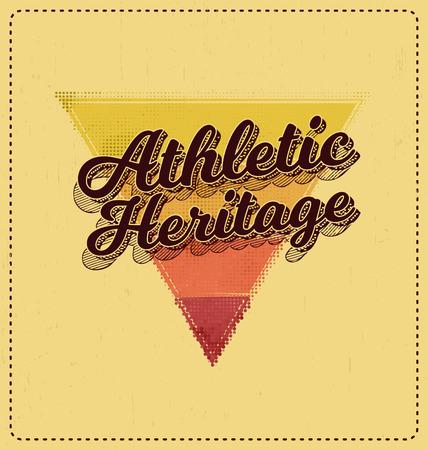 screen print: Athletic Storico - Design tipografico - Look classico ideale per la camicia di stampa schermo disegno Vettoriali