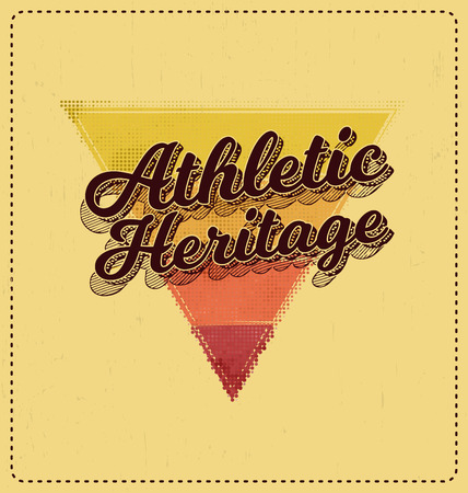 Athletic Heritage - Typographic Design - Classic look ideal for screen print shirt design