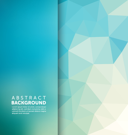 Abstract Background - Triangle and blurred banner design Ilustrace