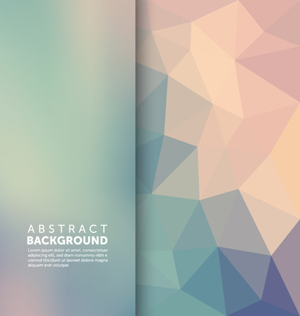 Abstract Background - Triangle and blurred banner design Ilustracja