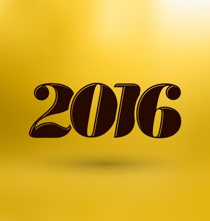 desig: 2016 - calligraphic new year greeting desig