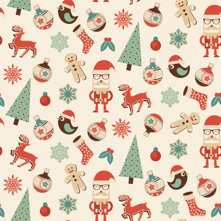 gift wrapping: Seamless Christmas Pattern - Ideal Design for Gift Wrapping Paper or Decorative Wallpaper Illustration