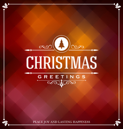 christmas card: Christmas Card Design - Elegant Stylish Greeting with Typographic elements Illustration