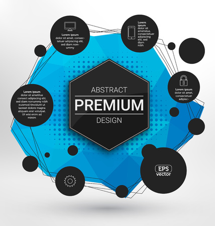 scientific: Geometric Background Design - Polygonal Elements - Abstract Premium Design - Scientific Future Technology Concept - Infographic Template - Design Layout for Business Presentations, Flyers or Posters