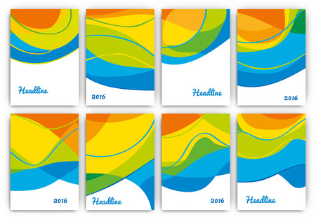 themed: Abstract Brazil 2016 Themed Flyer Set - Collection of Vector Design Templates