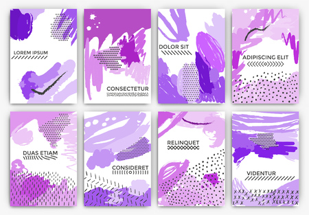 artistic: Hand drawn artistic background designs - Useable for Wedding invitation, anniversary, birthday, Valentines day, party poster - card, brochure, or flyer design - shades of purple