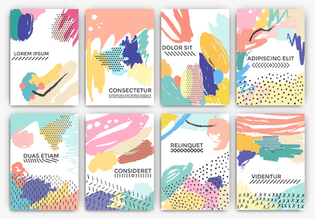 Hand drawn artistic background designs - Useable for Wedding invitation, anniversary, birthday, Valentine's day, party poster - card, brochure, or flyer design
