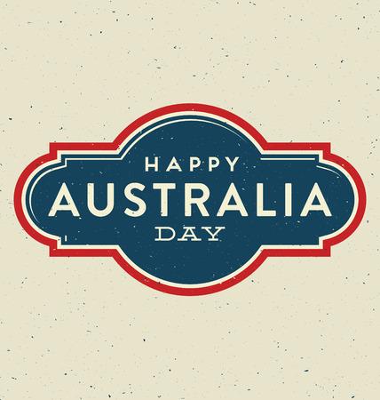 Australia Day - 26 January - Vintage Typographic Design