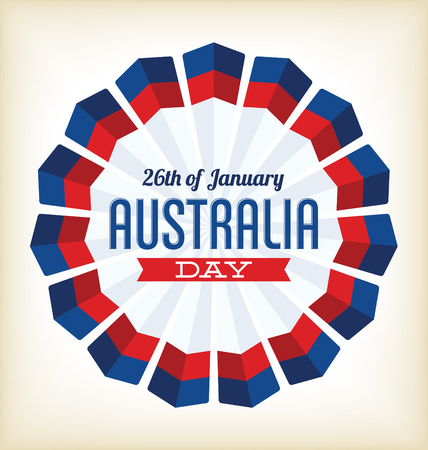 26 january: Australia Day - 26 January - Typographic Design with National Colors