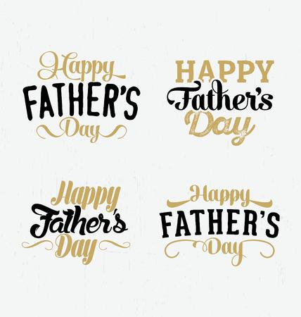 Fathers Day Typographic Design Set
