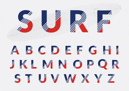 deficient: Typographic alphabet design set - Colorful lettering with abstract lines