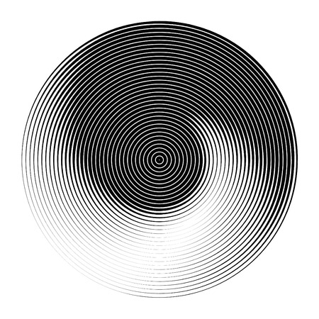 tweak: Abstract background set with concentric rotating circles Illustration