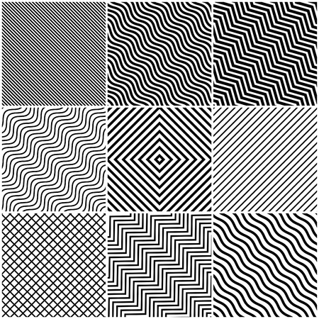 slanted: Simple Slanted Black Lines Background Set - Collection of slanted angular and wavy line designs with black lines on white background - abstract pattern design