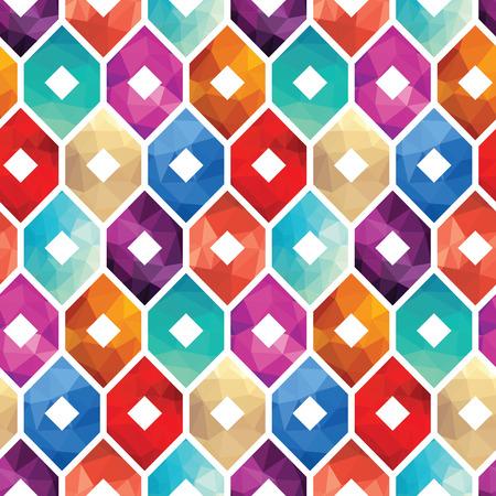Colorful Geometric pattern Design Illustration