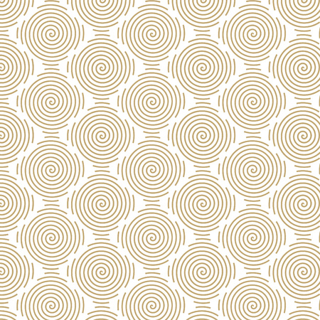 mono: Vector pattern in trendy mono line style - minimal round geometric texture