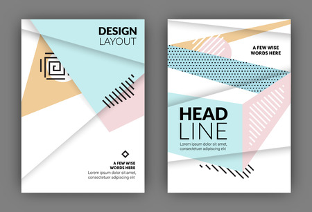 usable: Flyer template - Usable for Annual Report Cover - Leaflet presentation, Flyer abstract background design - Usable for print or digital presentation - A4 standard format