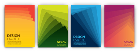 Colorful template set - minimal cover designs - abstract geometric backgrounds collection Illustration