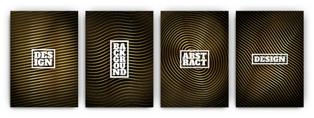Abstract luxury style black and gold cover designs Illustration