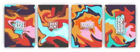 Creative fluid style cover template designs