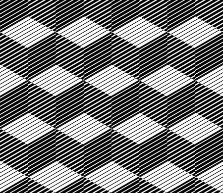 A Seamless pattern - Lines shaping squares - Modern monochrome texture - Repeating abstract background -Trendy design with geometric shapes Vectores