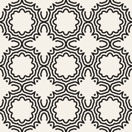 A Seamless Pattern of modern abstract vector design on repeating lines and geometric elements 向量圖像