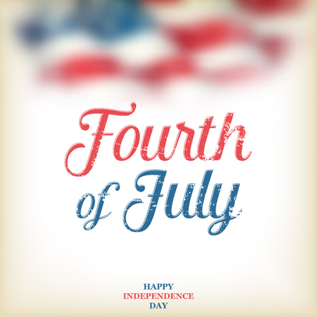 4th of July - Independence Day background design - Greeting Card Illustration