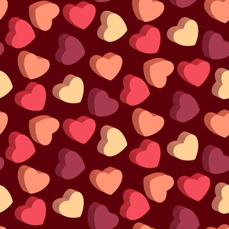 Heart shaped candies seamless pattern for valentines day design backgrounds or wrapping paper